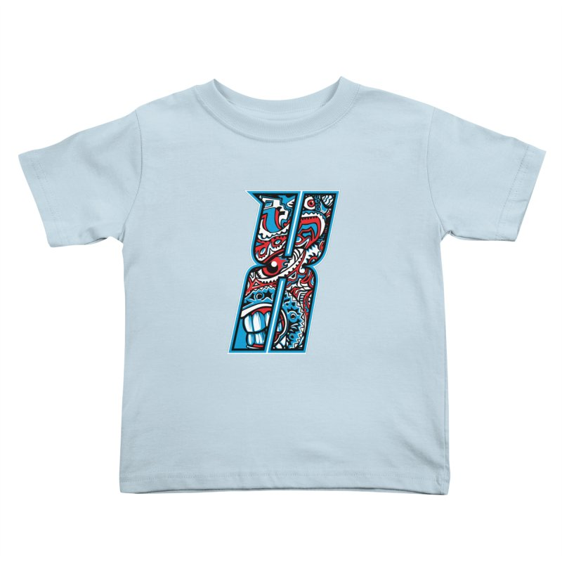 Crazy Face_X001 Kids Toddler T-Shirt by Art of Yaky Artist Shop