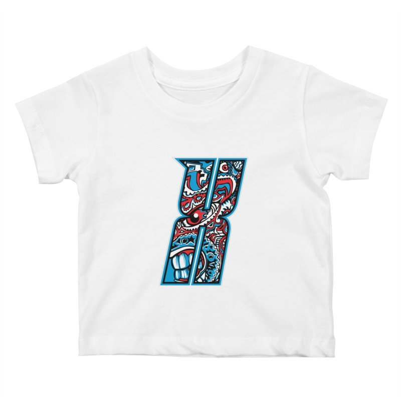 Crazy Face_X001 Kids Baby T-Shirt by Art of Yaky Artist Shop