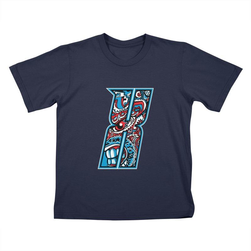 Crazy Face_X001 Kids T-Shirt by Art of Yaky Artist Shop