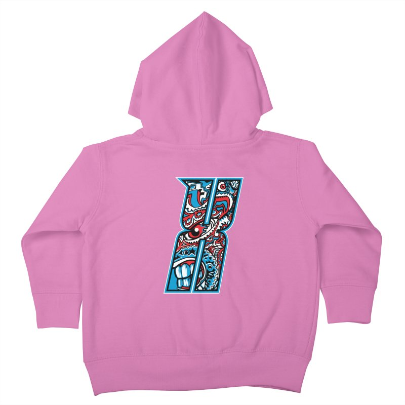 Crazy Face_X001 Kids Toddler Zip-Up Hoody by Art of Yaky Artist Shop