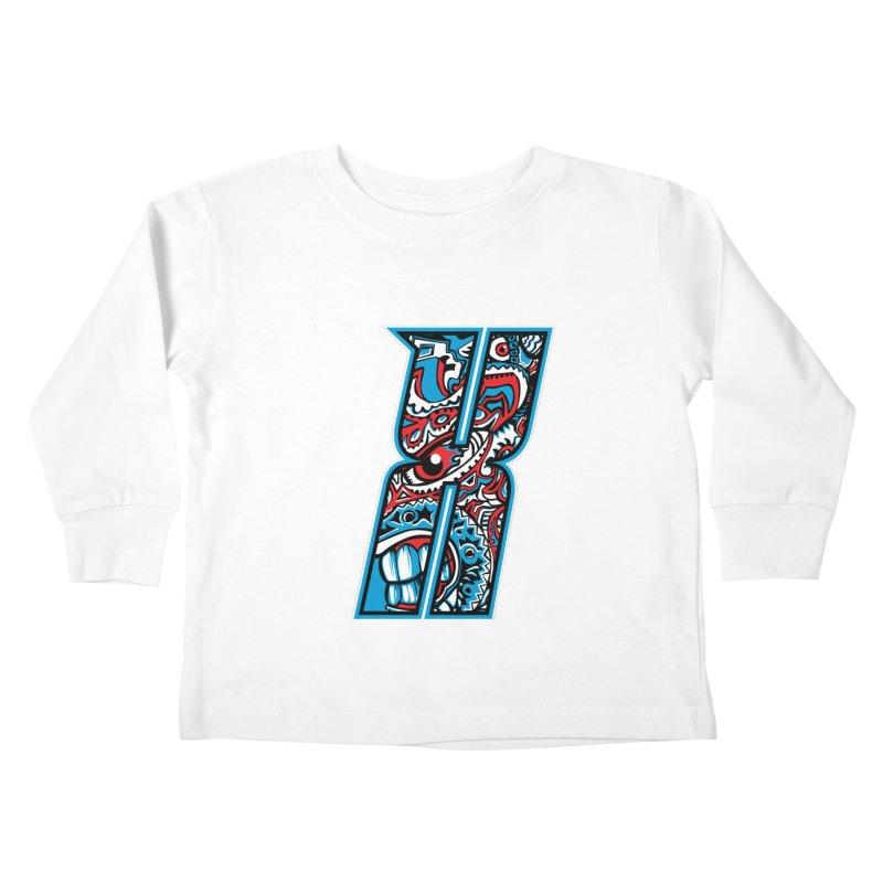 Crazy Face_X001 Kids Toddler Longsleeve T-Shirt by Art of Yaky Artist Shop