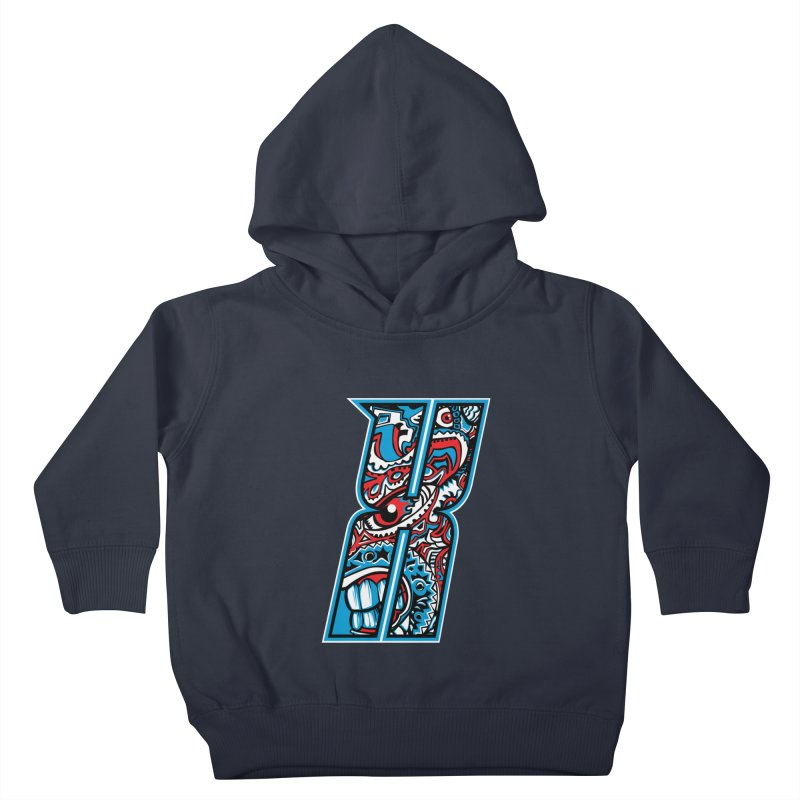 Crazy Face_X001 Kids Toddler Pullover Hoody by Art of Yaky Artist Shop