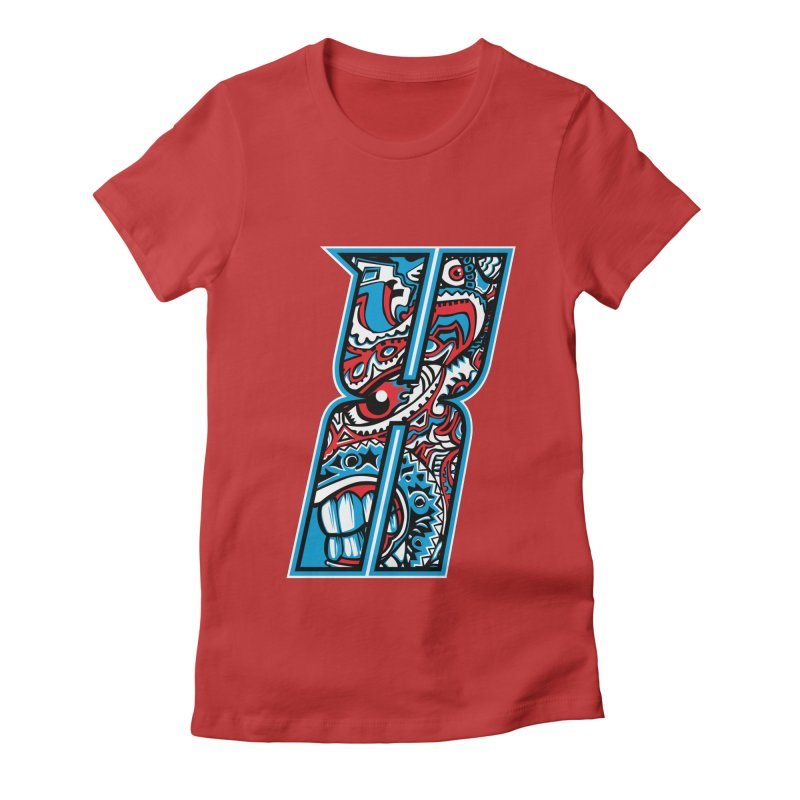 Crazy Face_X001 Women's T-Shirt by Art of Yaky Artist Shop