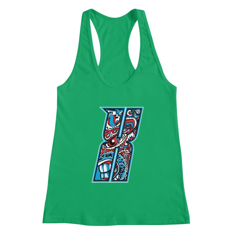 Crazy Face_X001 Women's Tank by Art of Yaky Artist Shop