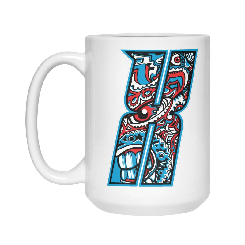 Crazy Face_X001 Accessories Mug by Art of Yaky Artist Shop