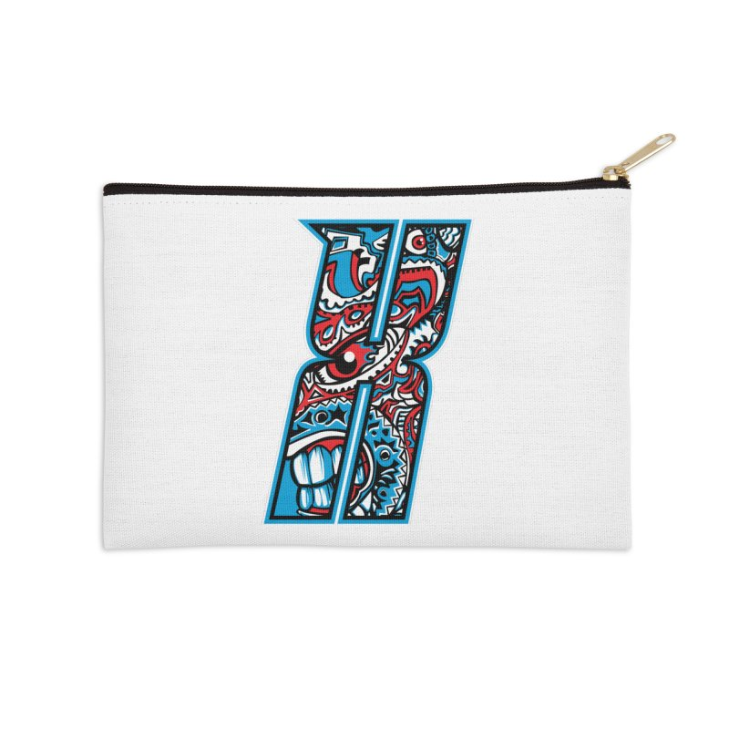 Crazy Face Alphabet (X) Accessories Zip Pouch by Yaky's Customs