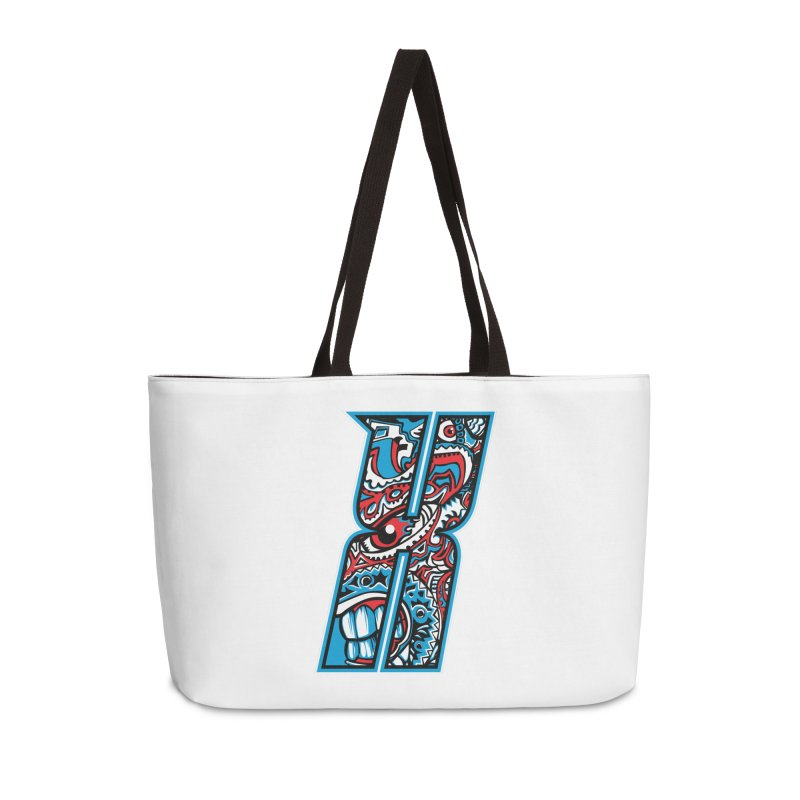 Crazy Face_X001 Accessories Weekender Bag Bag by Art of Yaky Artist Shop