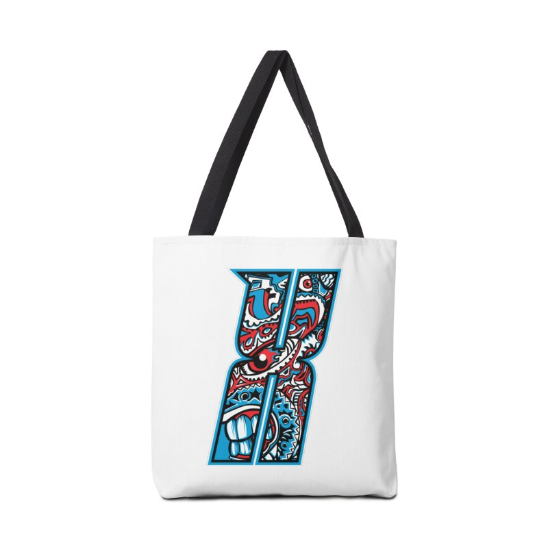 Crazy Face_X001 Accessories Tote Bag Bag by Art of Yaky Artist Shop