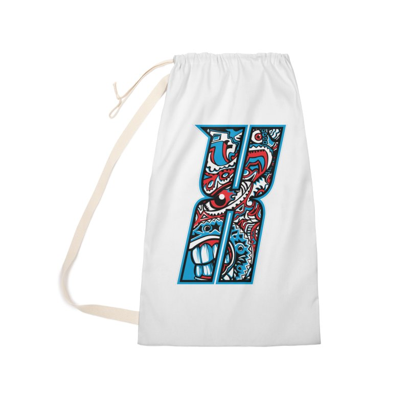 Crazy Face_X001 Accessories Laundry Bag Bag by Art of Yaky Artist Shop