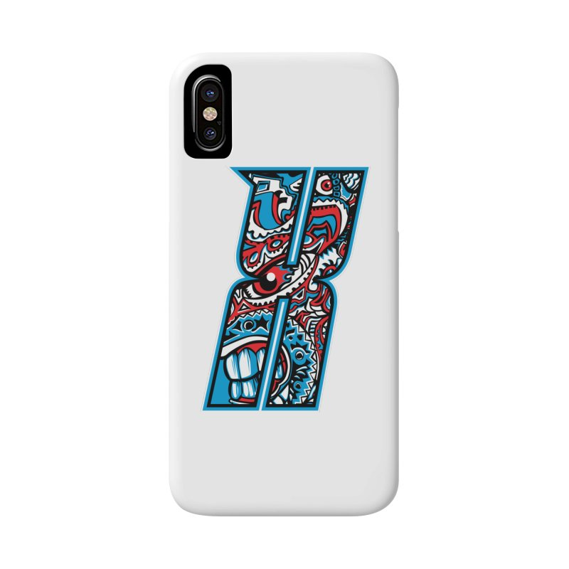 Crazy Face_X001 Accessories Phone Case by Art of Yaky Artist Shop