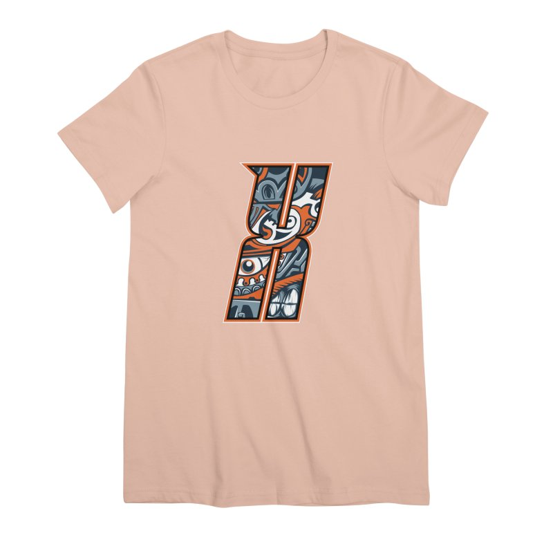 Crazy Face_X002 Women's Premium T-Shirt by Art of Yaky Artist Shop