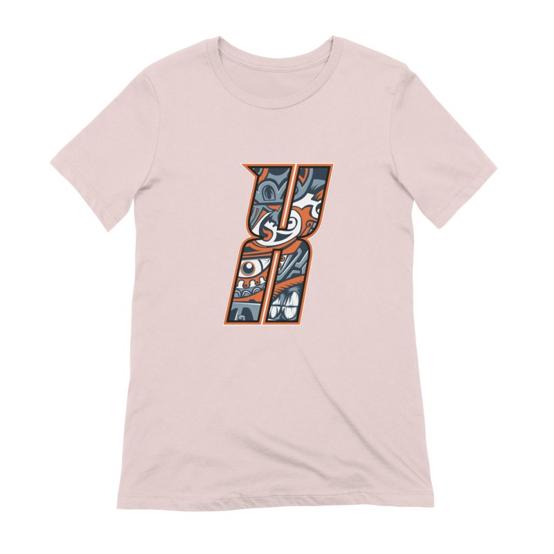 Crazy Face_X002 Women's Extra Soft T-Shirt by Art of Yaky Artist Shop