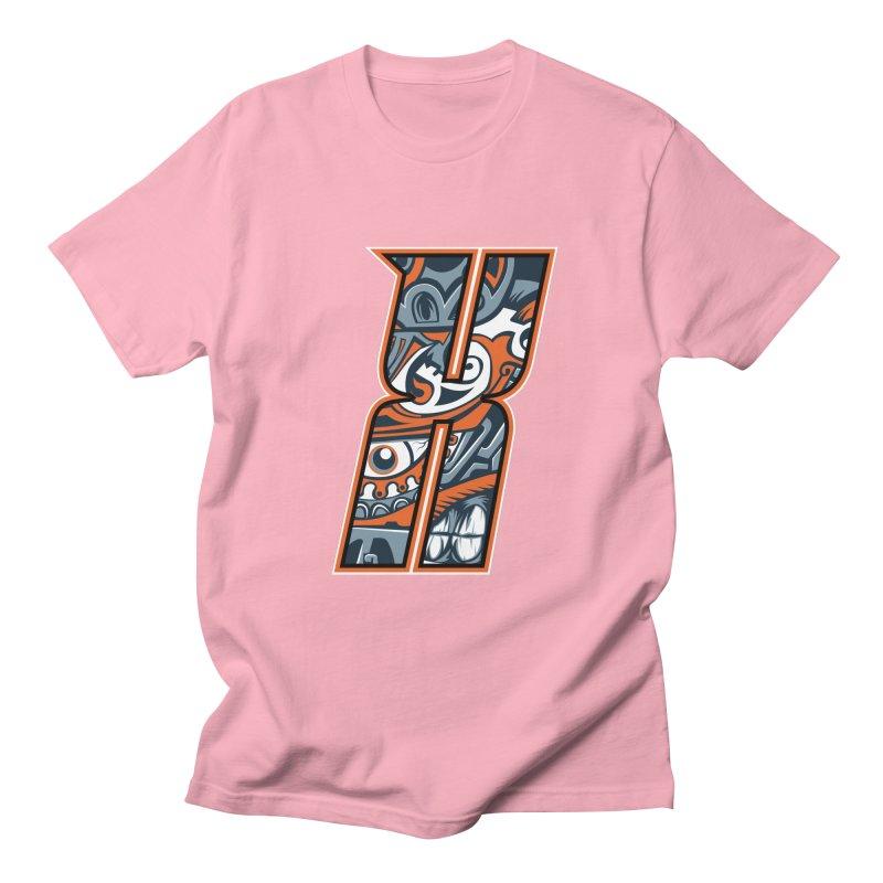 Crazy Face Alphabet (X) Men's T-Shirt by Yaky's Customs