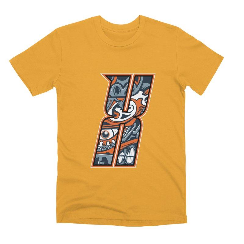 Crazy Face Alphabet (X) Men's T-Shirt by Art of Yaky Artist Shop