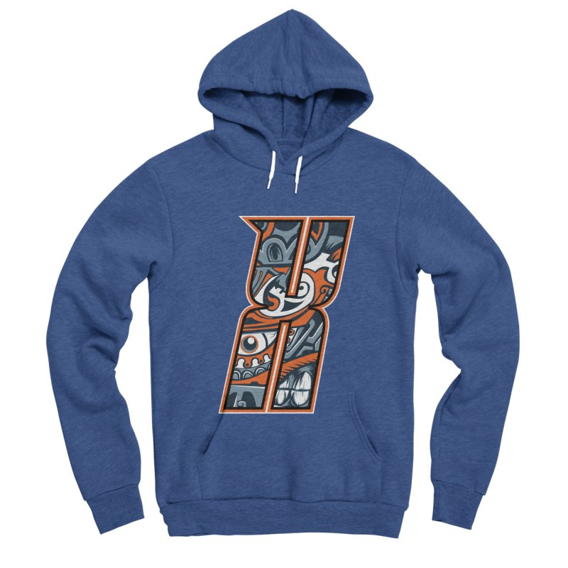 Crazy Face_X002 Men's Pullover Hoody by Art of Yaky Artist Shop