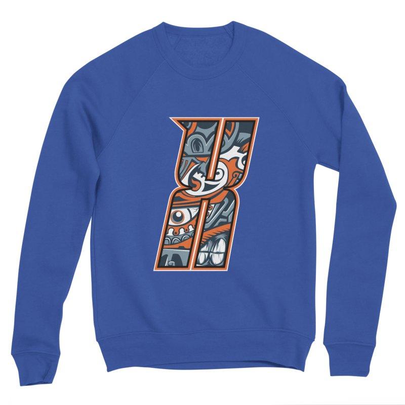Crazy Face_X002 Men's Sponge Fleece Sweatshirt by Art of Yaky Artist Shop