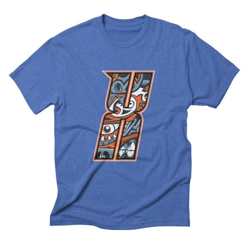 Crazy Face_X002 Men's T-Shirt by Art of Yaky Artist Shop