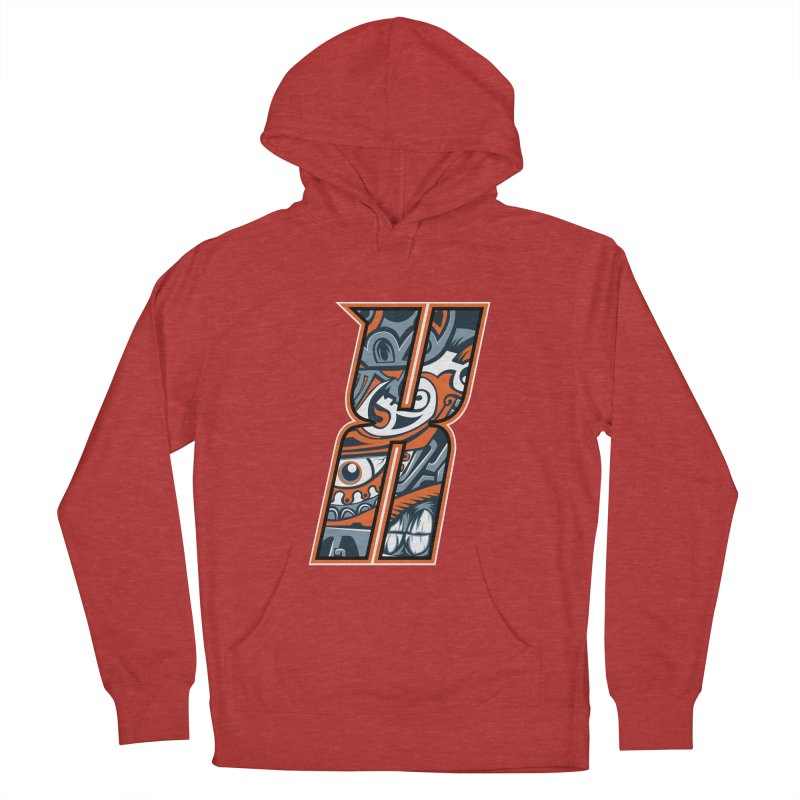 Crazy Face_X002 Women's French Terry Pullover Hoody by Art of Yaky Artist Shop