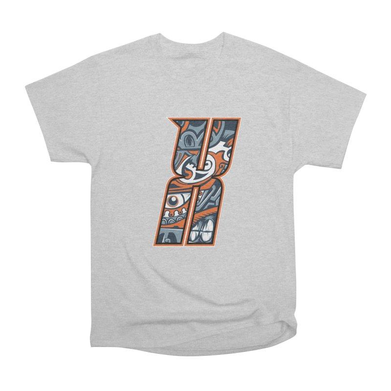 Crazy Face_X002 Women's Heavyweight Unisex T-Shirt by Art of Yaky Artist Shop
