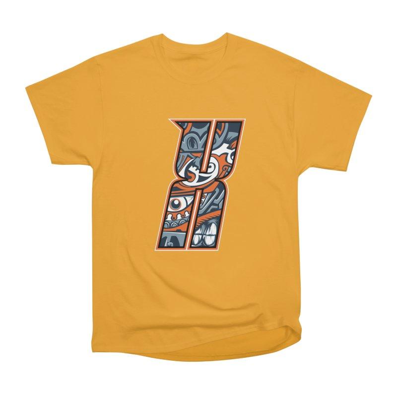 Crazy Face_X002 Men's Heavyweight T-Shirt by Art of Yaky Artist Shop