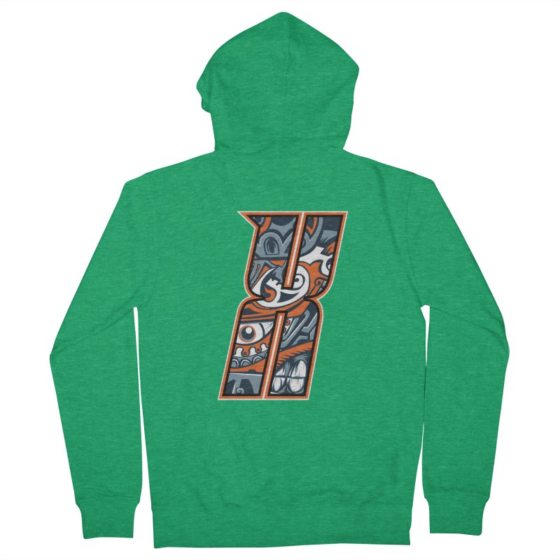 Crazy Face_X002 Women's Zip-Up Hoody by Art of Yaky Artist Shop