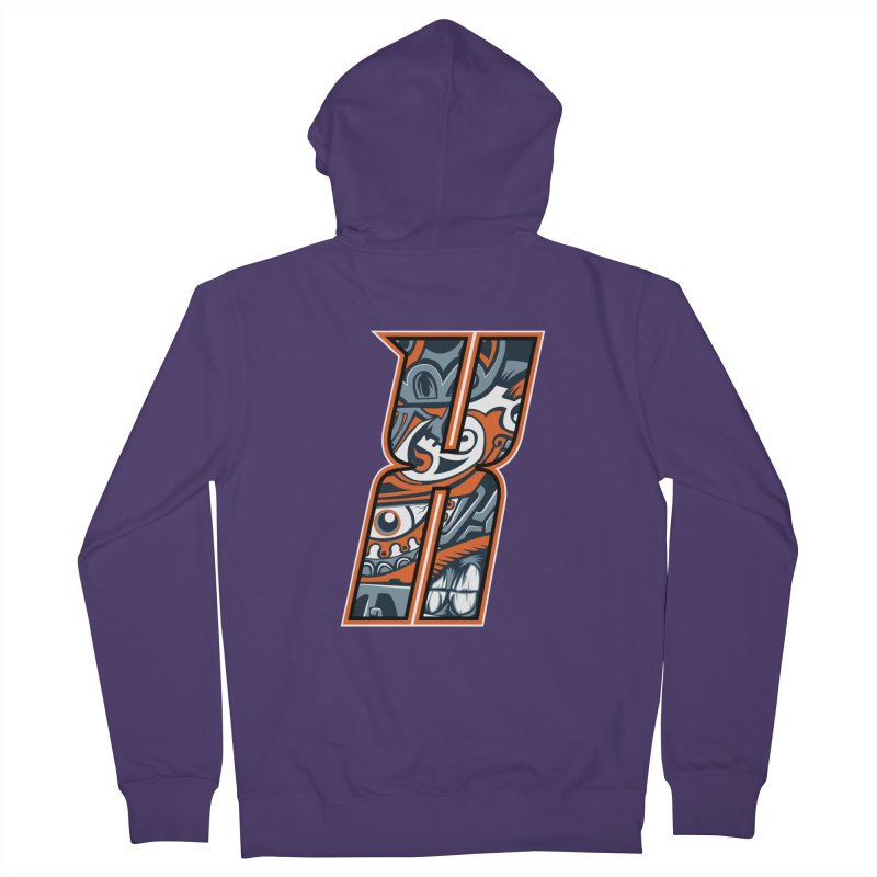 Crazy Face_X002 Women's French Terry Zip-Up Hoody by Art of Yaky Artist Shop