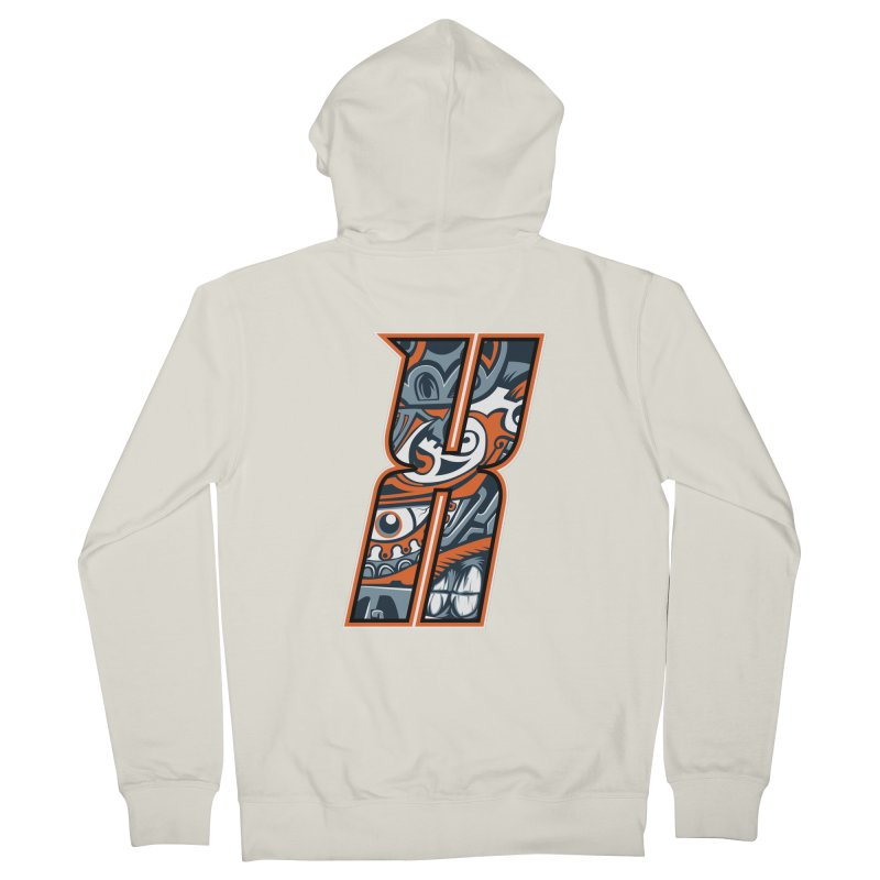 Crazy Face Alphabet (X) Men's Zip-Up Hoody by Yaky's Customs