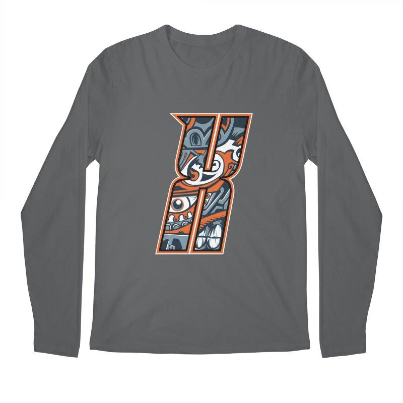 Crazy Face_X002 Men's Regular Longsleeve T-Shirt by Art of Yaky Artist Shop