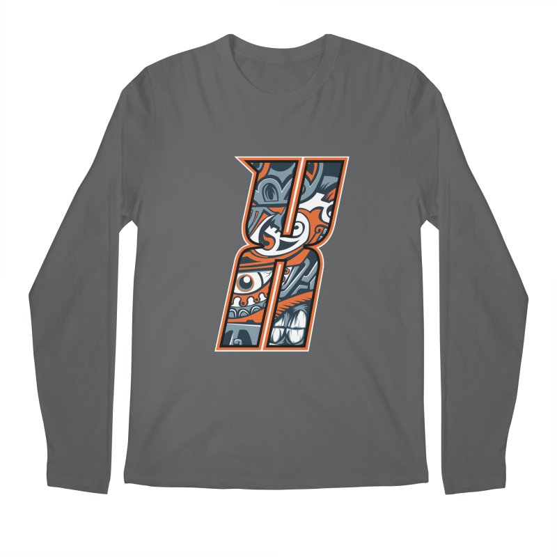 Crazy Face_X002 Men's Longsleeve T-Shirt by Art of Yaky Artist Shop