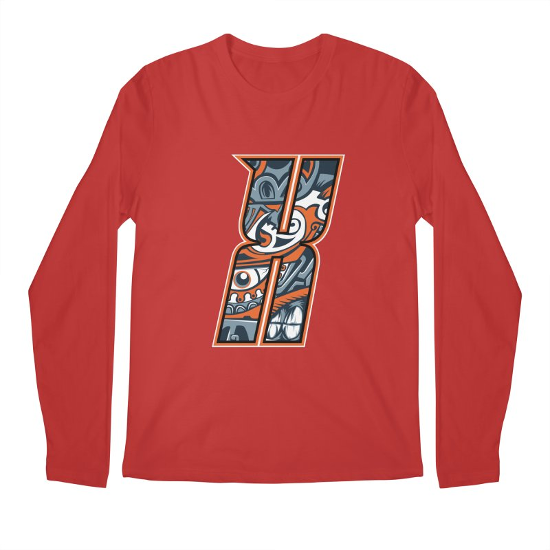 Crazy Face_X002 Men's Regular Longsleeve T-Shirt by Art of Yaky Artist Shop