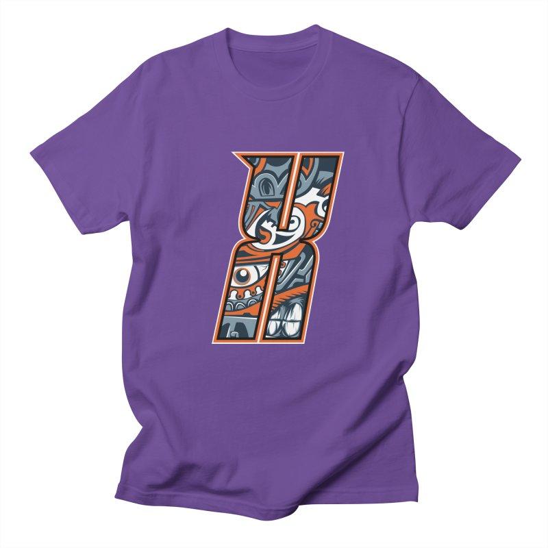 Crazy Face_X002 Men's Regular T-Shirt by Art of Yaky Artist Shop