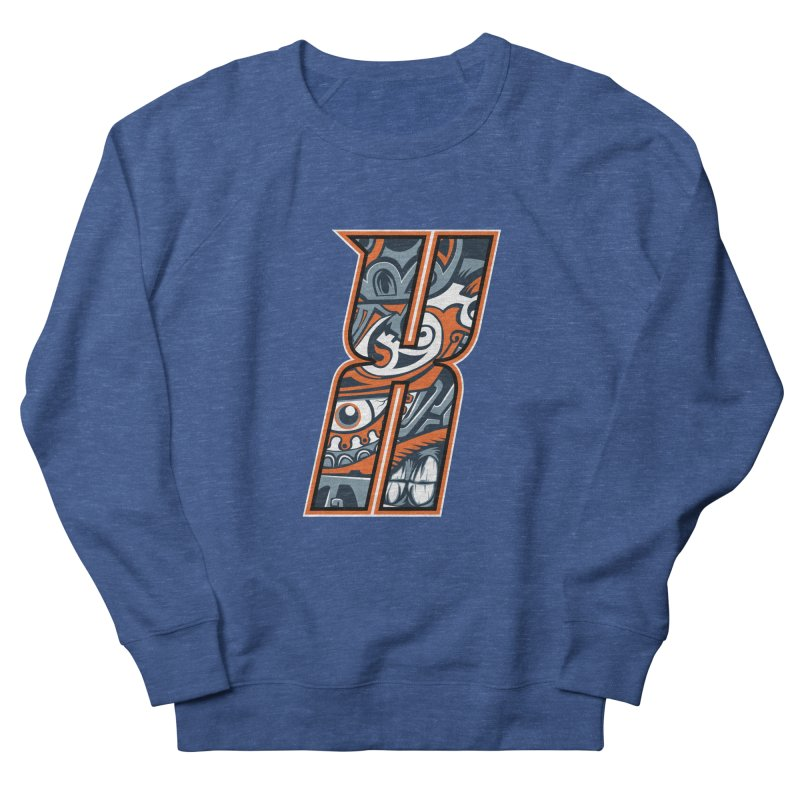 Crazy Face_X002 Women's French Terry Sweatshirt by Art of Yaky Artist Shop
