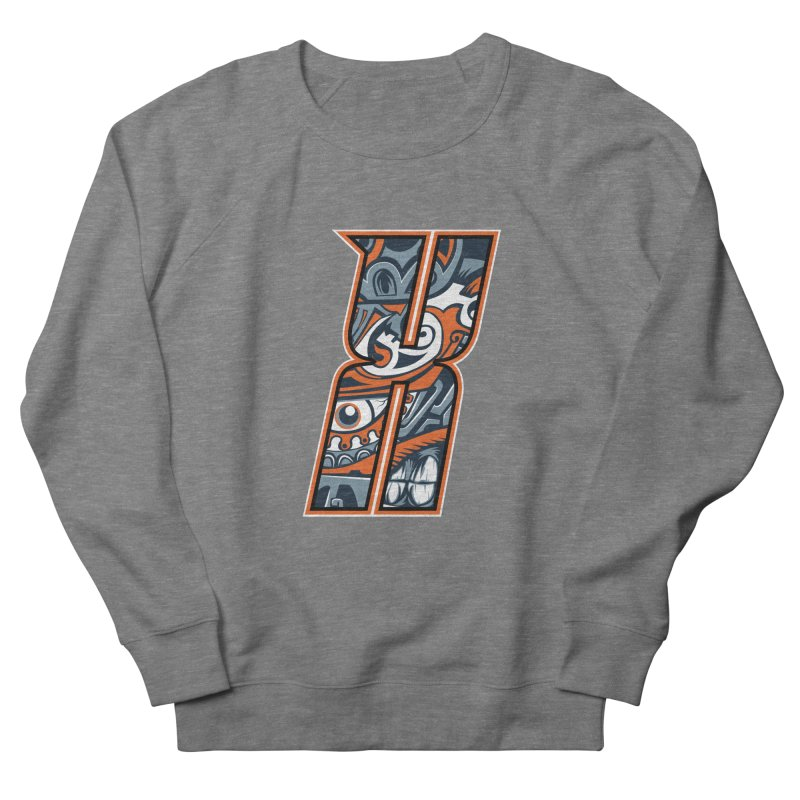 Crazy Face_X002 Men's French Terry Sweatshirt by Art of Yaky Artist Shop