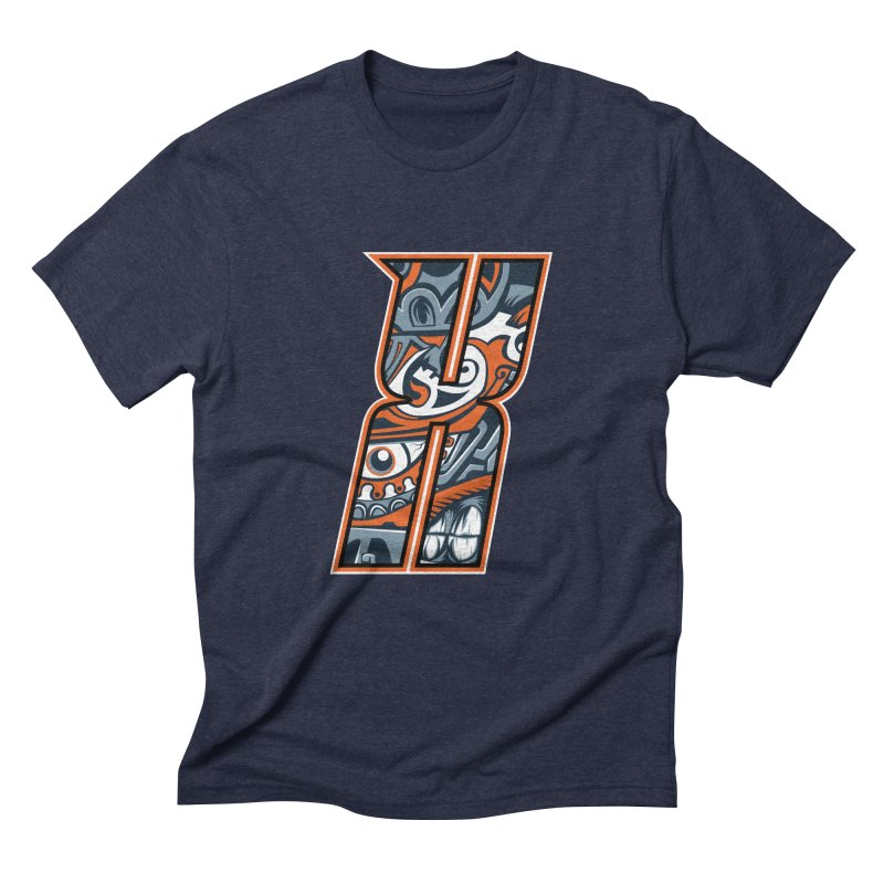 Crazy Face_X002 Men's Triblend T-Shirt by Art of Yaky Artist Shop