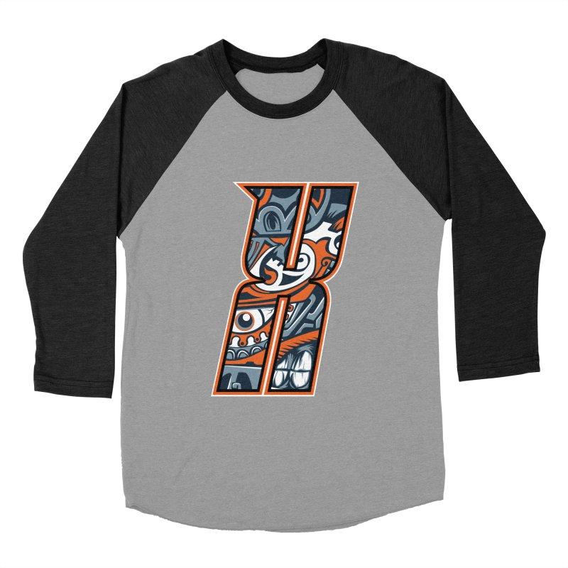 Crazy Face_X002 Men's Baseball Triblend Longsleeve T-Shirt by Art of Yaky Artist Shop