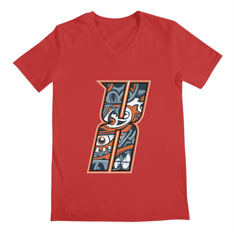 Crazy Face_X002 Men's V-Neck by Art of Yaky Artist Shop