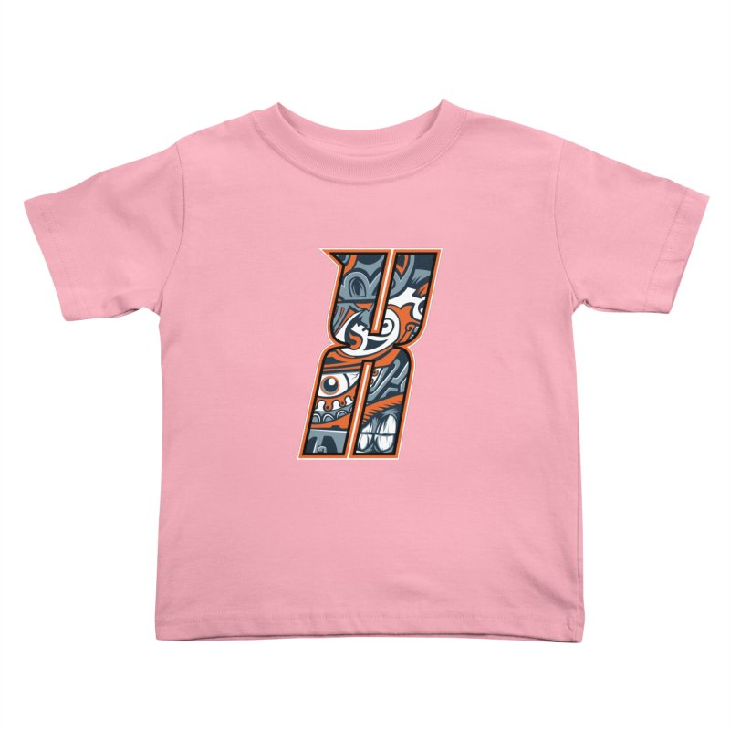 Crazy Face_X002 Kids Toddler T-Shirt by Art of Yaky Artist Shop