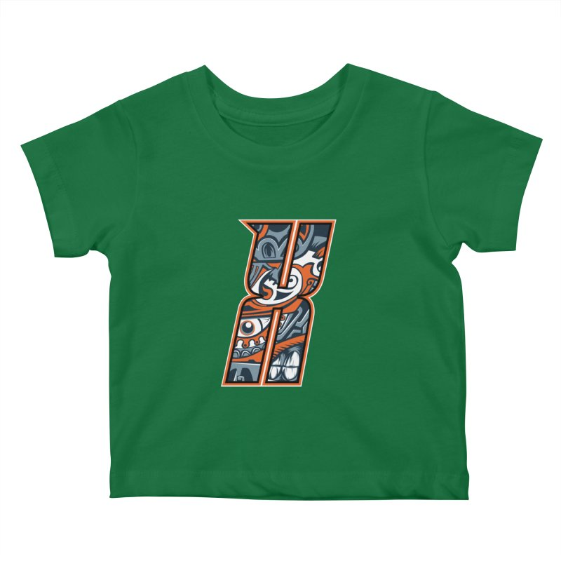 Crazy Face_X002 Kids Baby T-Shirt by Art of Yaky Artist Shop