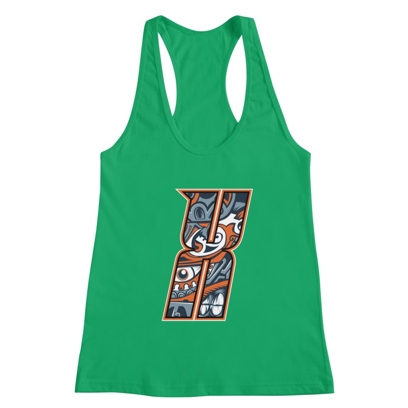 Crazy Face_X002 Women's Tank by Art of Yaky Artist Shop