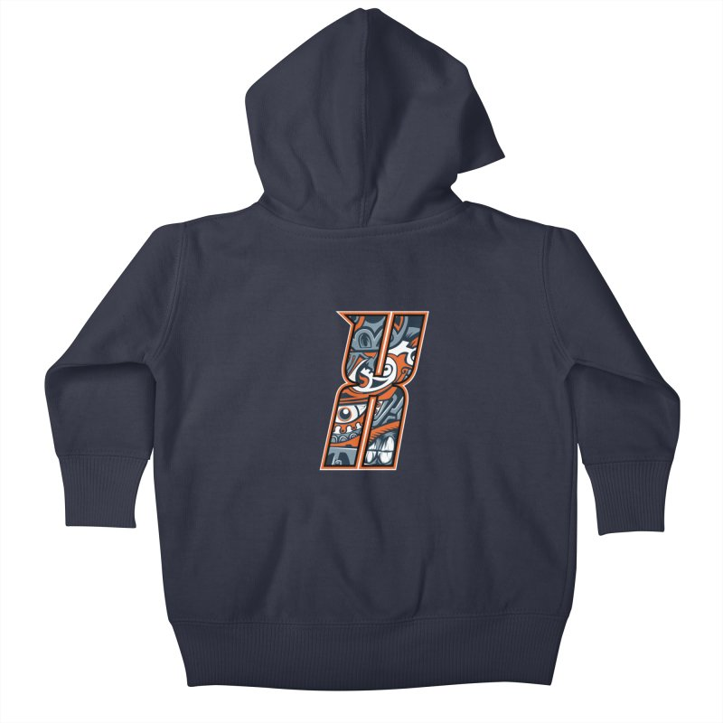 Crazy Face_X002 Kids Baby Zip-Up Hoody by Art of Yaky Artist Shop
