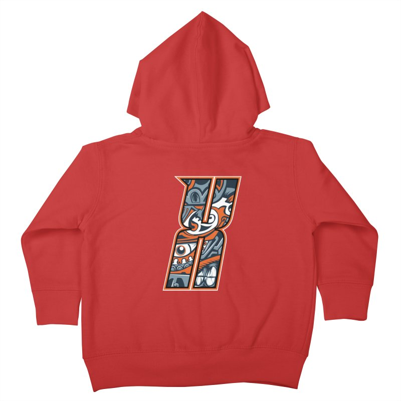 Crazy Face Alphabet (X) Kids Toddler Zip-Up Hoody by Yaky's Customs
