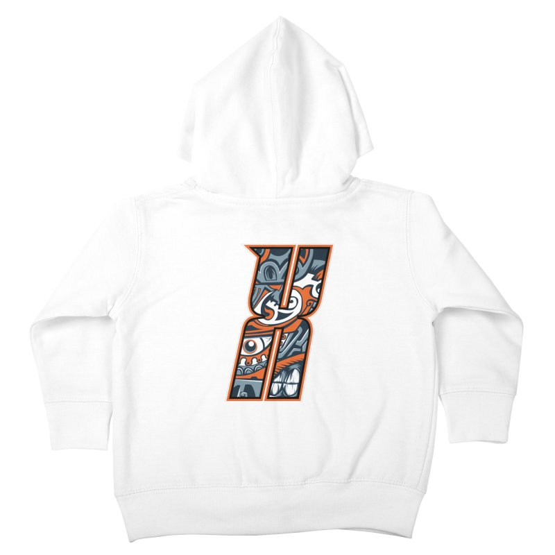Crazy Face_X002 Kids Toddler Zip-Up Hoody by Art of Yaky Artist Shop