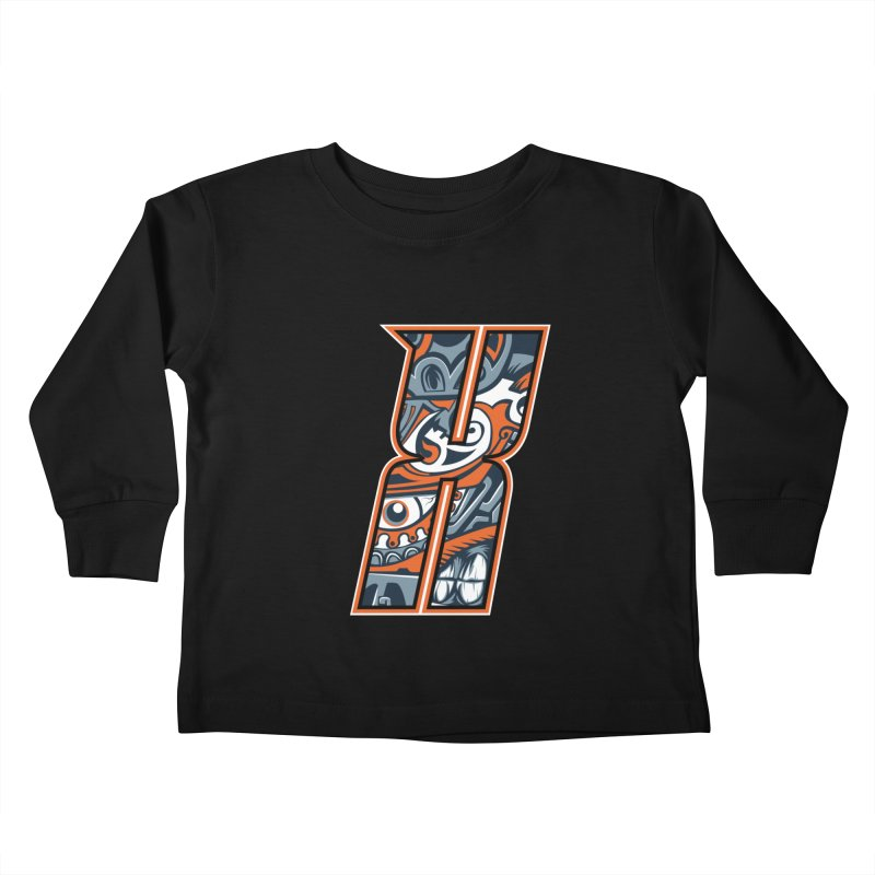 Crazy Face_X002 Kids Toddler Longsleeve T-Shirt by Art of Yaky Artist Shop