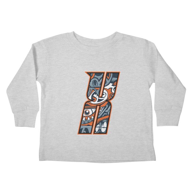 Crazy Face_X002 Kids Toddler Longsleeve T-Shirt by Art of Yaky Artist Shop