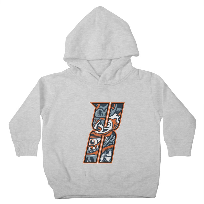 Crazy Face_X002 Kids Toddler Pullover Hoody by Art of Yaky Artist Shop