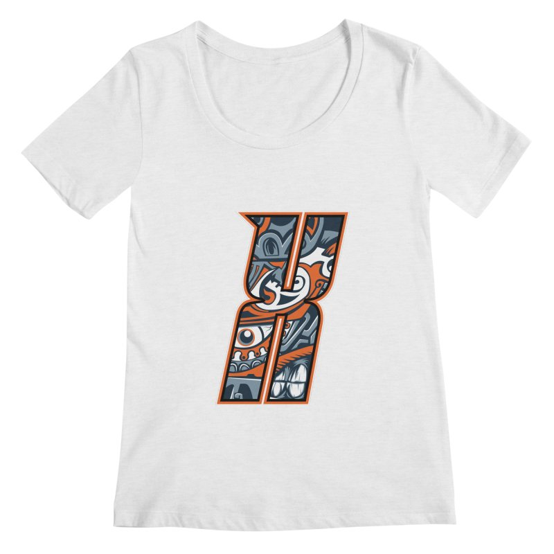 Crazy Face_X002 Women's Regular Scoop Neck by Art of Yaky Artist Shop