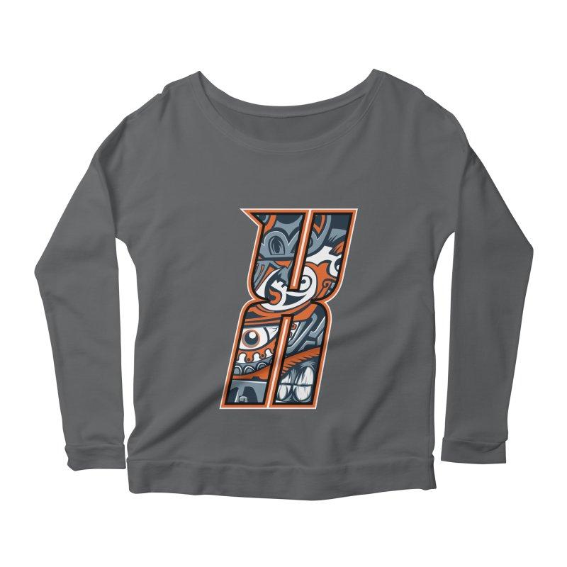 Crazy Face_X002 Women's Longsleeve T-Shirt by Art of Yaky Artist Shop