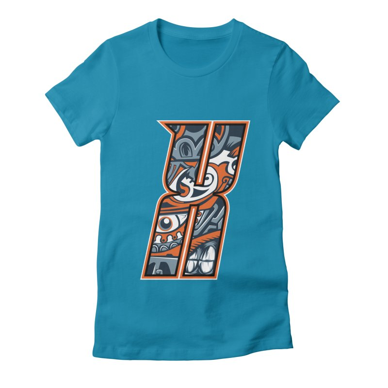 Crazy Face_X002 Women's T-Shirt by Art of Yaky Artist Shop