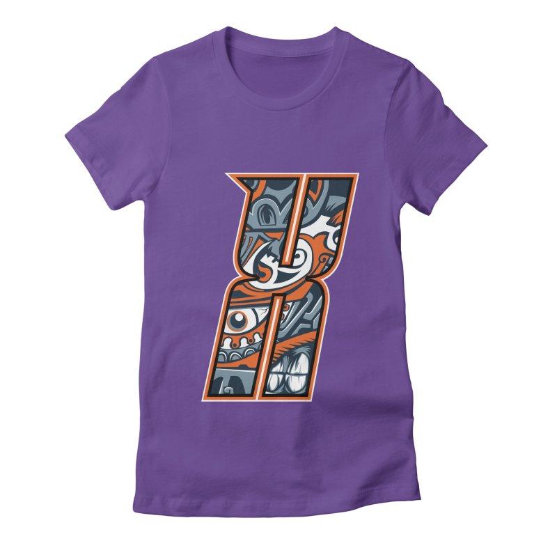 Crazy Face Alphabet (X) Women's T-Shirt by Art of Yaky Artist Shop