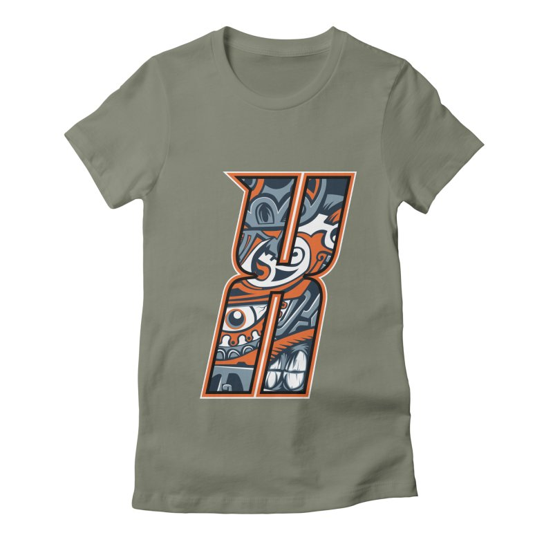 Crazy Face_X002 Women's T-Shirt by Art of Yaky Artist Shop